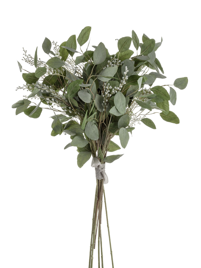 Faux Silver Dollar Eucalyptus & Willow Arrangement