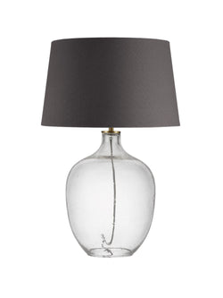 Glass Bubble Lamp - Charcoal Shade