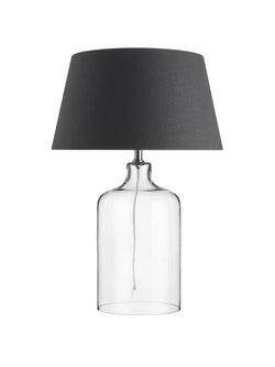 Glass Lamp with Charcoal Shade