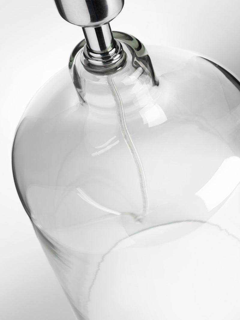 Glass Lamp with Grey Shade