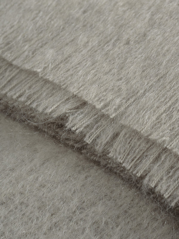 Mohair Throw - Dove Grey