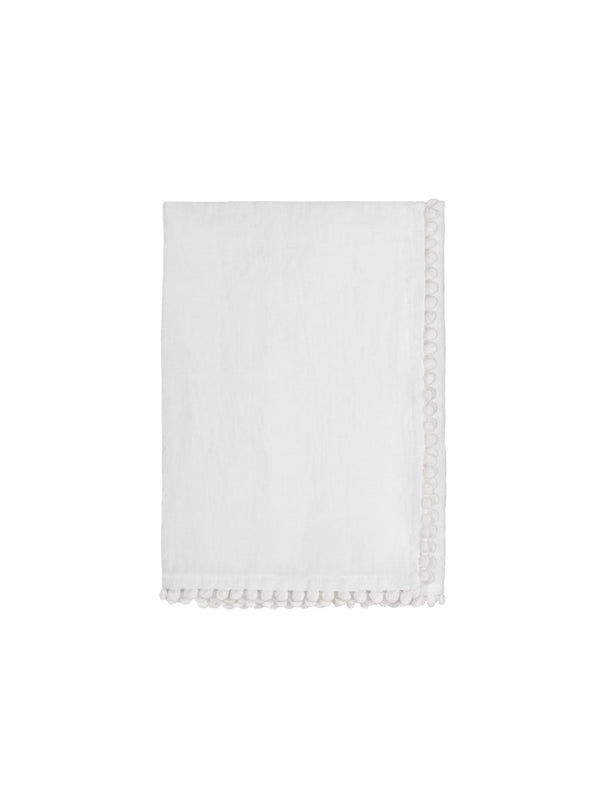 White Linen Bobble Napkins