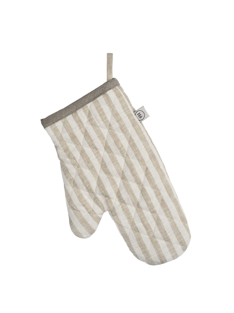 Oven Glove Natural Stripe