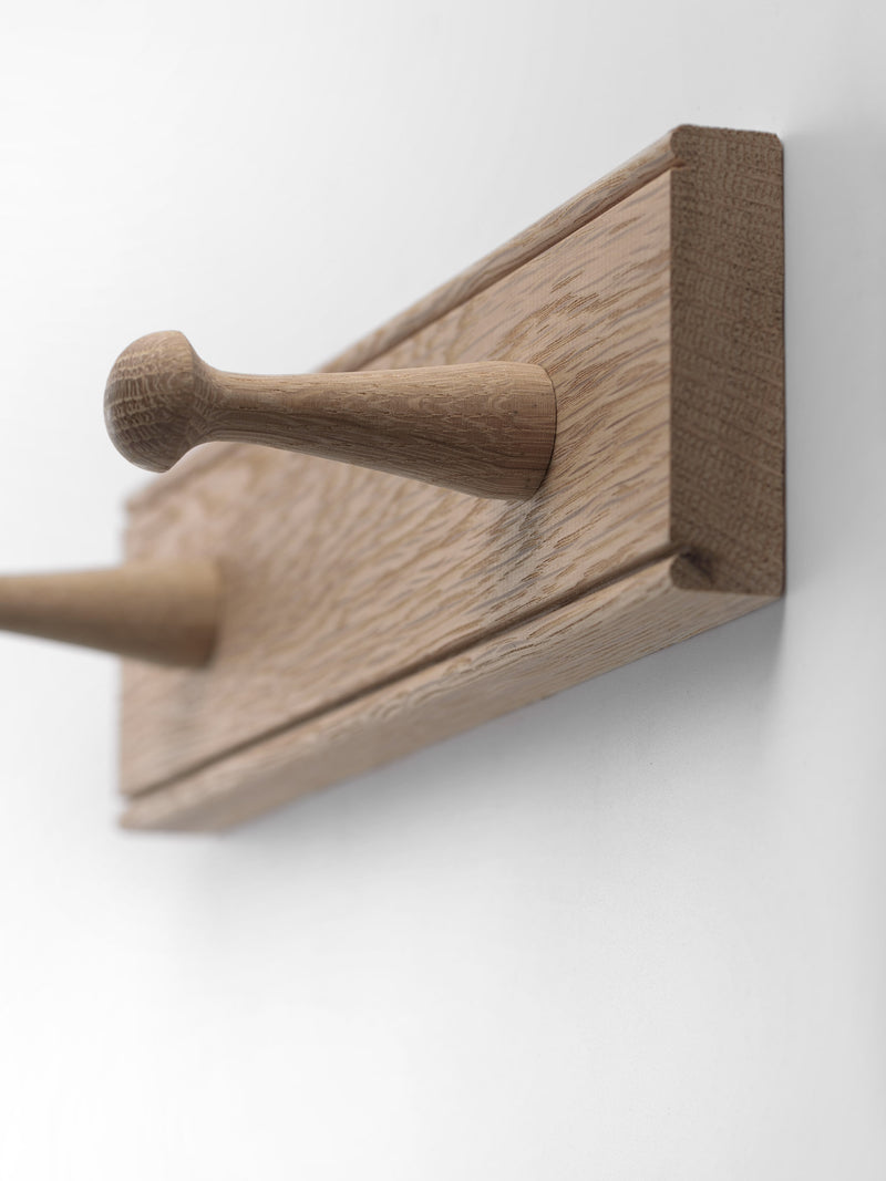 Oak Peg Rail - Natural