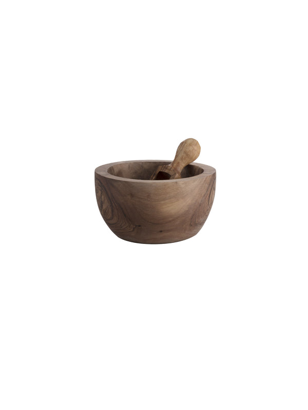 olive wood salt pot and spoon
