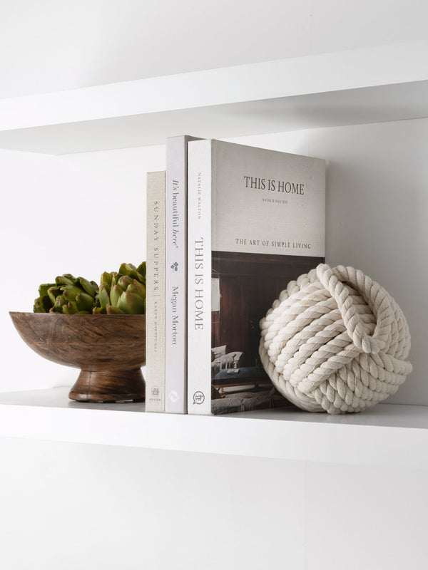 Rope Doorstop White