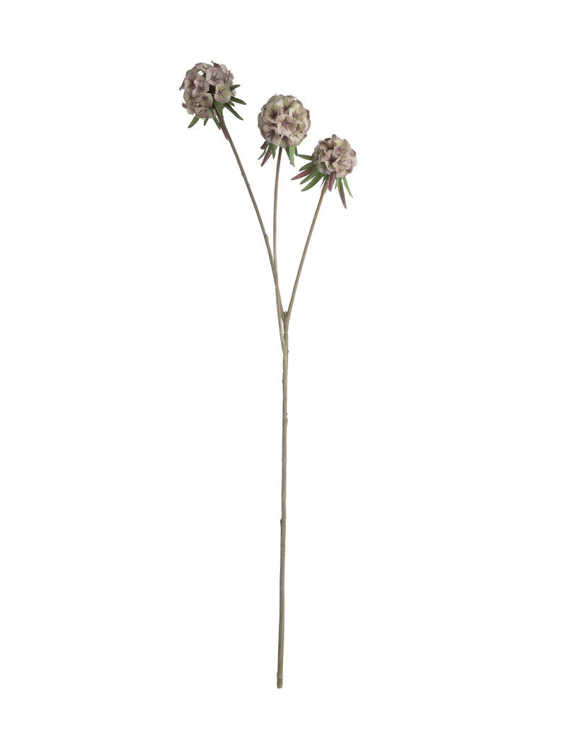 Faux Scabiosa Spray