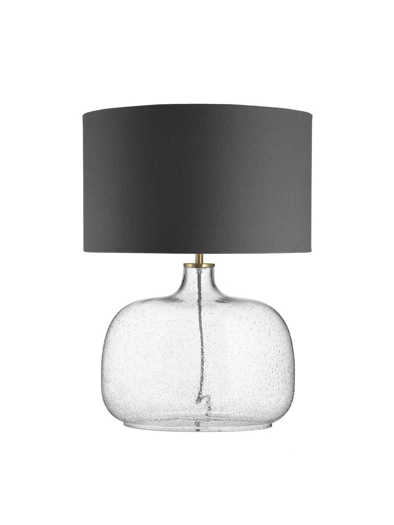 Oval Bubble Lamp - Grey Shade Drum