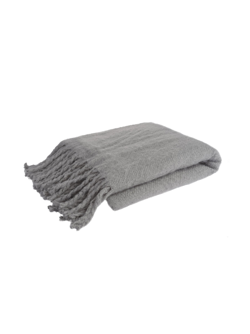 Tassle Throw - Grey