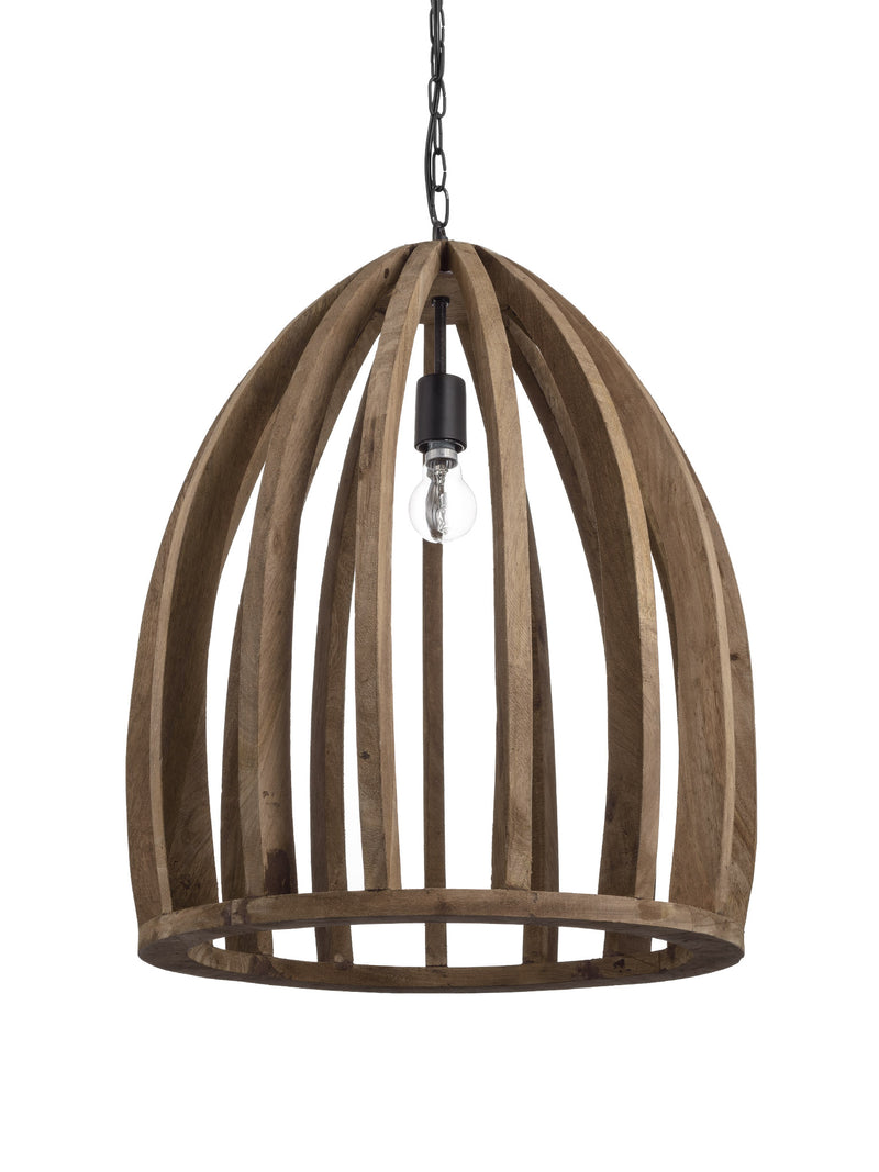Wooden Bird Cage Pendant