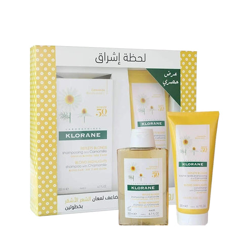 1 Shampoo with Chamomile 200ML + 1 Conditioner with Chamomile 200ML