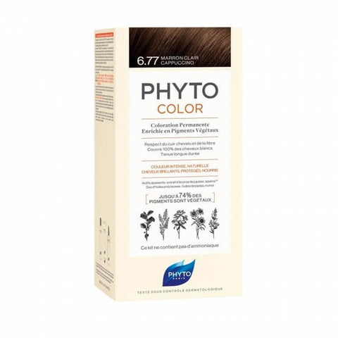NEW PHYTOCOLOR 6.77 Light Brown Cappuccino