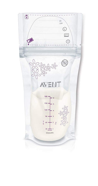 25 Breast Milk Storage Bags 180ml