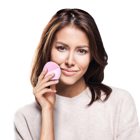 LUNA mini 2 Facial Cleansing Brush, Pearl Pink