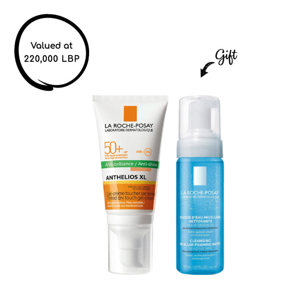 Anthelios Xl Spf 50+ Tinted Dry Touch Gel-Cream Anti-Shine  50ML + Cleansing Micellar Foaming Water (Gift)