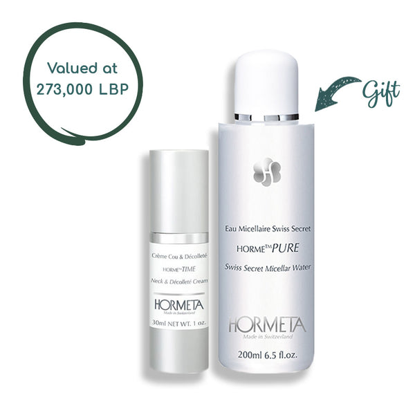 Horme Time Neck & Decollete Cream 30 Ml + Horme Pure Swiss Secret Micellar 200 ML (Gift)