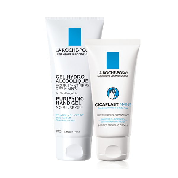 Hand Care Set: Hydroalcoholic Purifying Hand Gel 100ML + Cicaplast Hand Cream 50ML