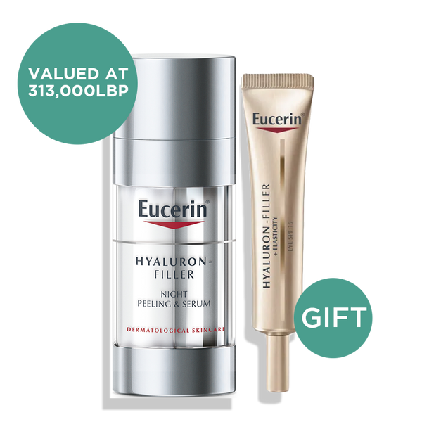 Hyaluron-Filler Night Peeling & Serum + Hyaluron-Filler Elasticity Eye Cream 15ML (Gift)