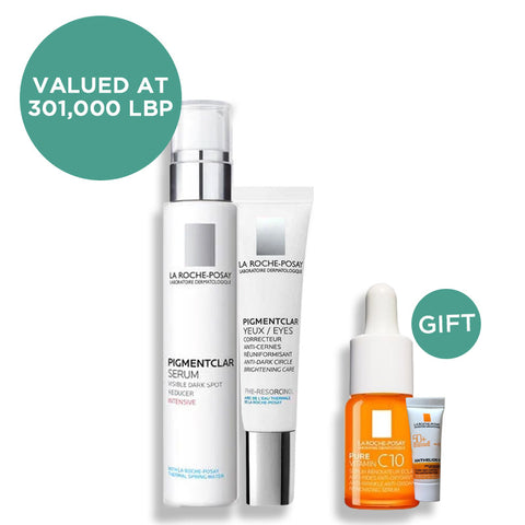 Pigmentclar Serum + Pigmentclar Eyes & get Mini Vitamin C Serum + Mini Anthelios Fluid (Gift)