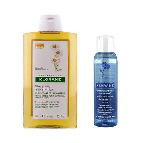 Shampoo with Chamomile 400ML + Waterproof Eye Make-up Remover 100ML