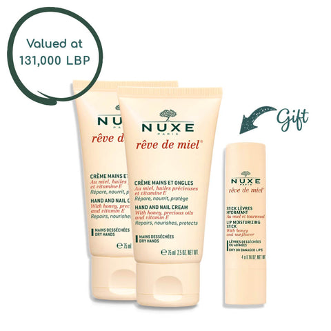 Duo Hand and Nail Cream Rêve de Miel® 50ML & get 1 Lip Stick Rêve de Miel®