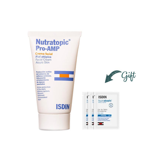Nutratopic Pro-AMP Cream Facial Cream 50ML + 3 nutratopic shower gel 5ML