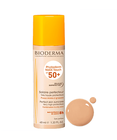 Photoderm NUDE Touch SPF 50+ mineral mat finish golden tint sunscreen Combination oily skin