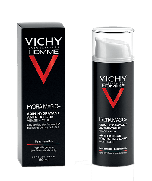 Vichy Homme Hydra Mag C + Anti-Fatigue Moisturizer For Face And Eyes 50ML