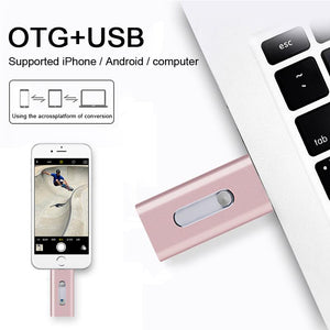 New 3 in 1 USB OTG Flash Drive for iPhone, Android, Mac and PC Pendrive