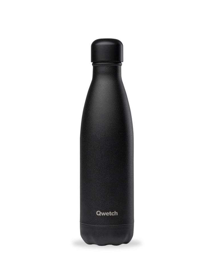 Gourde All Black en inox - 500ml Qwetch vrac-zero-dechet-ecolo-toulouse