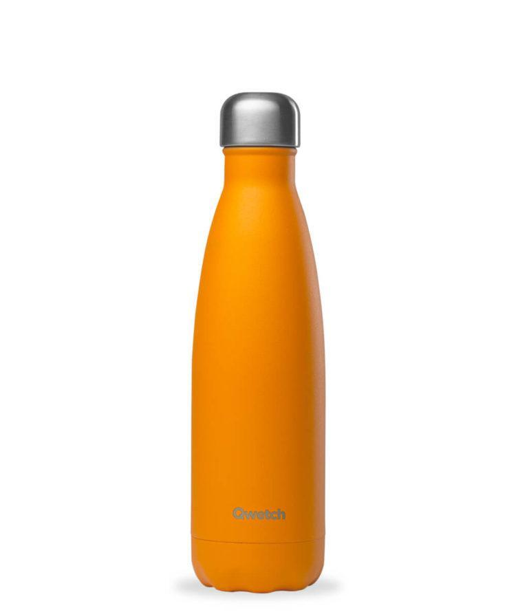 Gourde Pop Orange en Inox 500 ml Qwetch vrac-zero-dechet-ecolo-toulouse