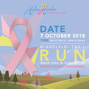 HHF Breast Cancer Trail Run : Sun 7 Oct 2018 @ Middelvlei Wine Estate