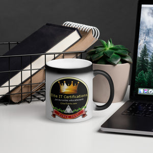 Elite IT Matte Black Magic Mug