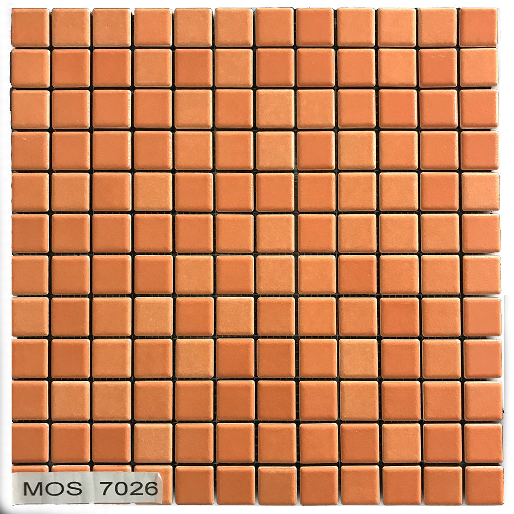 Mosaico Orange 2.5x2.5 cm - Outlet Della Ceramica | Ceramica Outlet