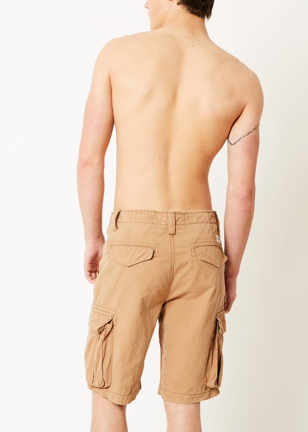 College Cargo Shorts Camel