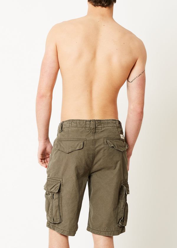 College Cargo Shorts Taupe