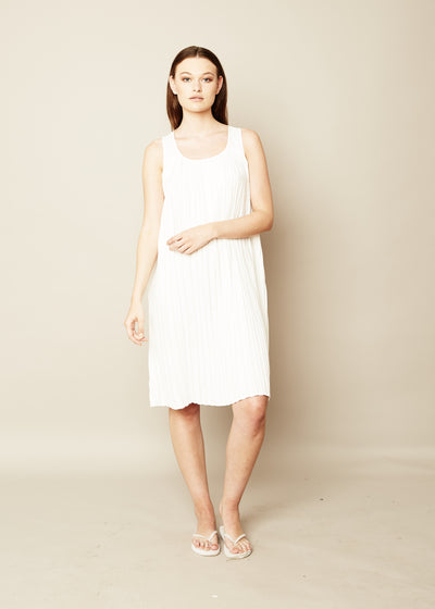 The Perfect Pleated Shift Dress