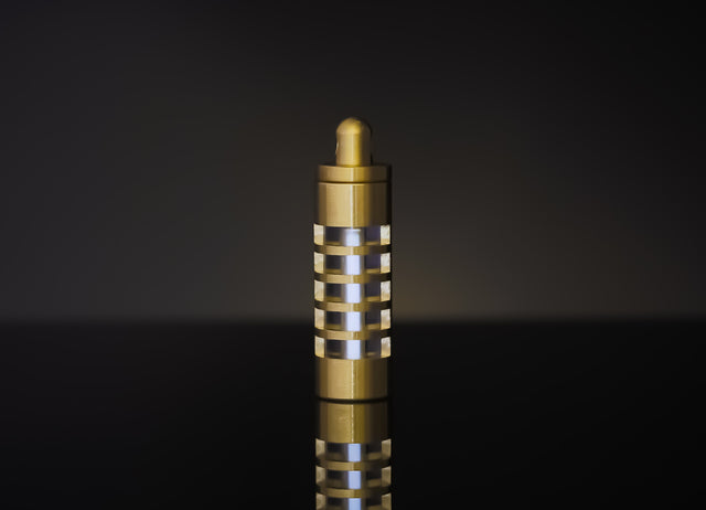 Brass Tritium Keychain Casing - Caged