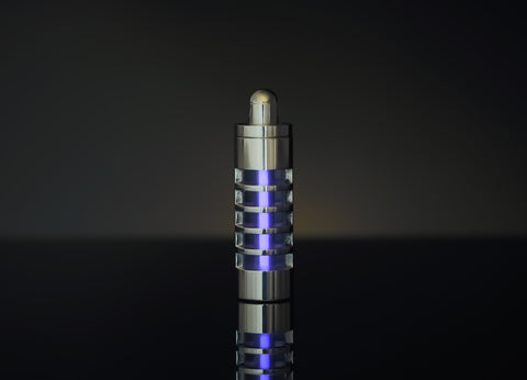 Stainless Steel Tritium Keychain Casing - Caged