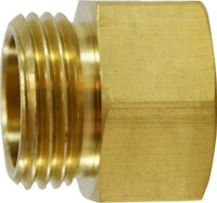 BRASS MALE GARDEN HOSE X FEMALE PIPE THREAD