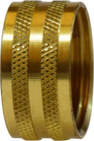 BRASS FEMALE GARDEN HOSE X FEMALE GARDEN HOSE
