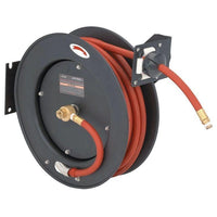 "**RETRACT. HOSE REEL,3/8"" X  50', STEEL, 300 psi"
