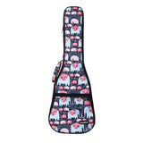 CLOUDMUSIC Colorful Cute Animals Pattern Hawaiian Ukulele Bag Ukulele Case ( Elephants In Love Dark Blue)