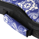 CLOUDMUSIC Plant Flower Series Hawaiian Ukulele Case Ukulele Bag (Paisley Pattern In Blue)