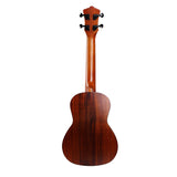 CLOUDMUSIC Solid Koa Concert Ukulele With Aquila Strings Hawaiian Palm Tree Ukulele Case Ukulele Strap Ukulele Felt Picks
