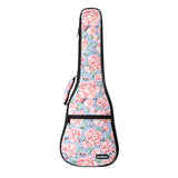 CLOUDMUSIC Plant Flower Hawaiian Blue Ukulele Case Ukulele Bag Pink Cherry Flower Sakura ( Light Blue)