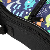 CLOUDMUSIC Blue Ocean Ukulele Case Ukulele Backpack for Kids (Fish In Dark Blue)