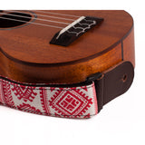 CLOUDMUSIC Ukulele Case and Matched Strap Series (Strap, Christmas Red Pattern)
