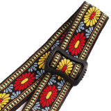 CLOUDMUSIC Colorful Style Hawaiian Ukulele Strap (Yellow Sunflower)