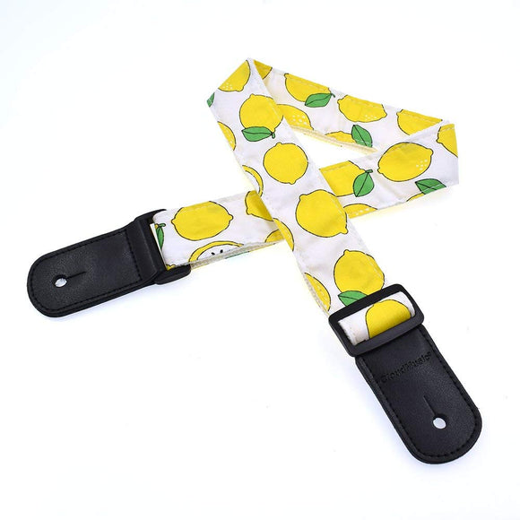 CLOUDMUSIC Ukulele Strap For Ukulele Soprano Concert Tenor Baritone Hawaii Summer Beach Tropical Fruits (Lemon)